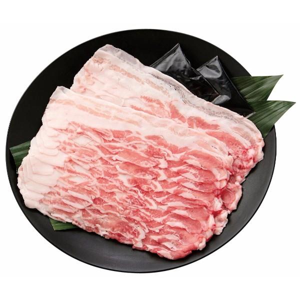 鹿児島県産アベル牧場黒豚 しゃぶしゃぶ用セット (バラ肉400g、ゆずポン酢50g×2)
