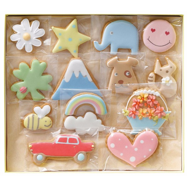 You Me & Cookies アイシングクッキー 13袋入り
