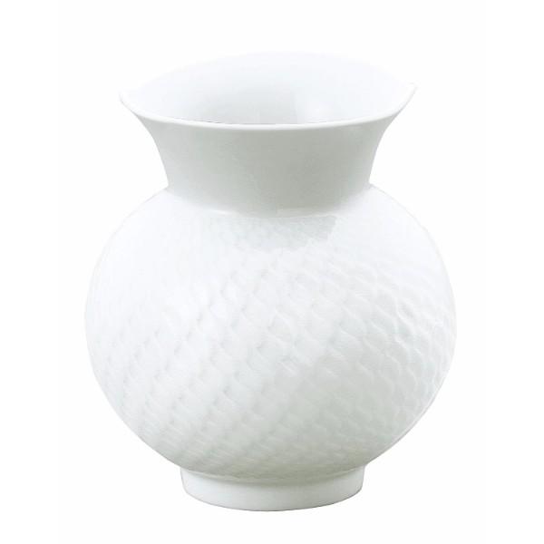 マイセン 「波の戯れ」ホワイト花瓶