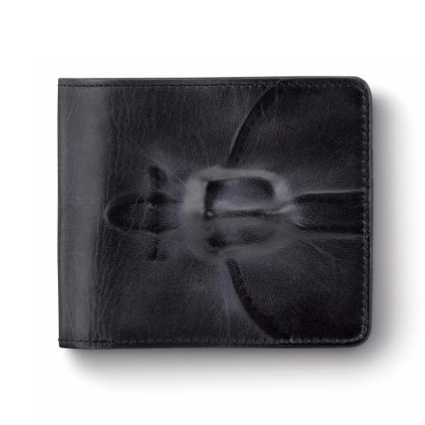 ミハラヤスヒロ あぶり出し二つ折り財布(ブラック)