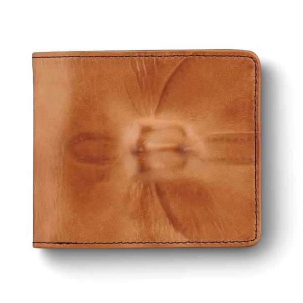 ミハラヤスヒロ あぶり出し二つ折り財布(キャメル)