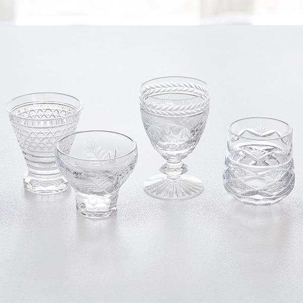 ボヘミアンガラス 酒グラスコレクション