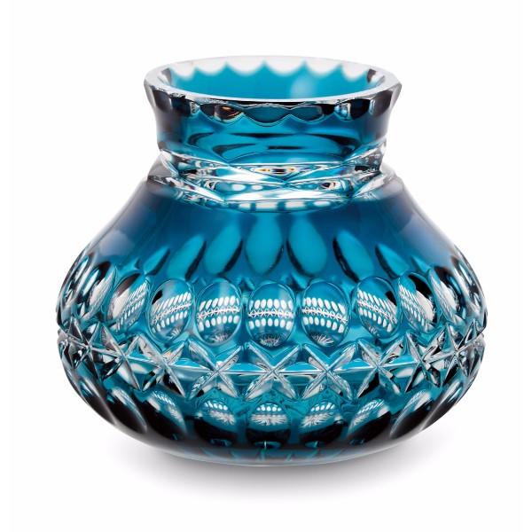 Lithos クリスタルガラス花瓶 アズール