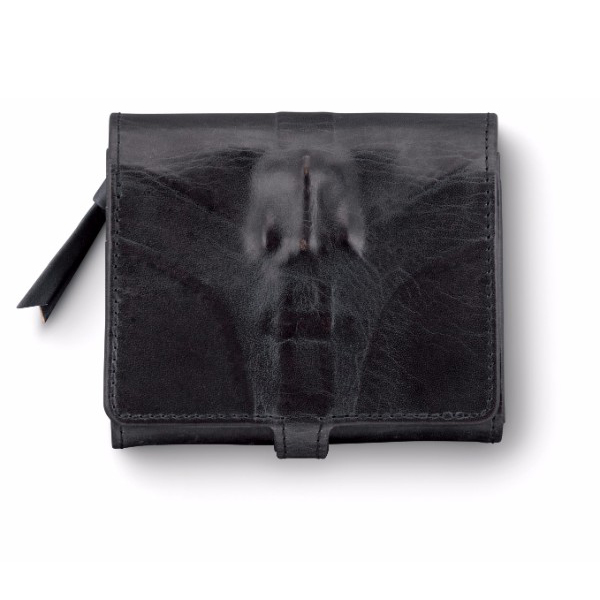 ミハラヤスヒロ あぶり出し三つ折り財布(ブラック)