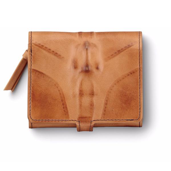 ミハラヤスヒロ あぶり出し三つ折り財布(キャメル)