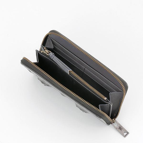 ミハラヤスヒロ あぶり出しZIP長財布(ブラック)