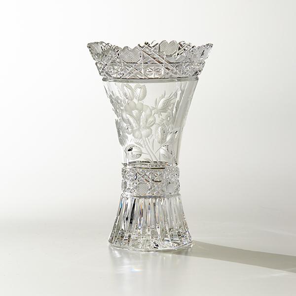 マイセンクリスタル マイセンフラワー 花瓶