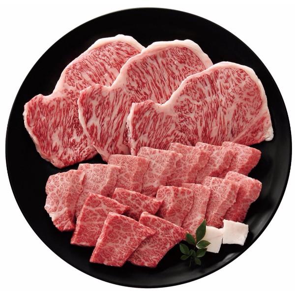 米沢牛 ステーキ・焼肉用詰合せ (サーロインステーキ180g×3、バラ肉(焼肉用)370g)