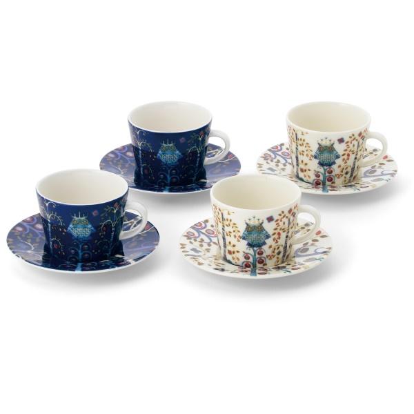 イッタラ タイカ コーヒーカップ&ソーサーペア 2色ペアセット(4客)