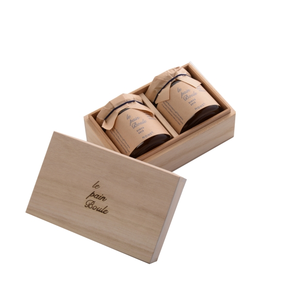 le pain boule(ル・パン・ブール) ハニー2個セット(木箱入り)*