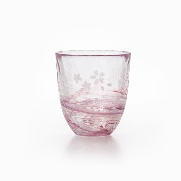 津軽びいどろ 桜流し グラス